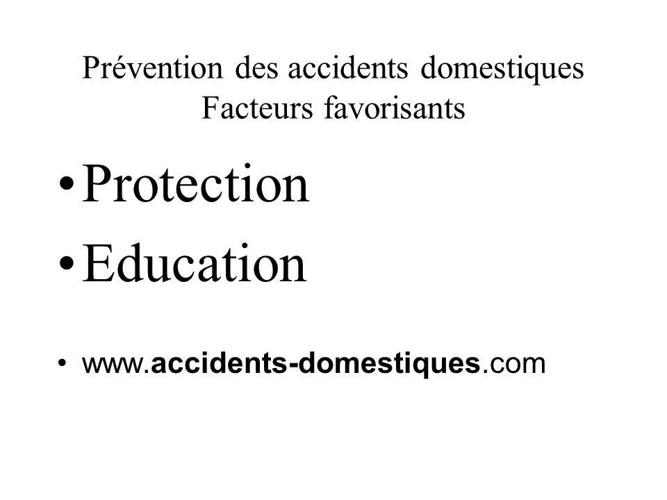 Prévention des accidents domestiques Facteurs favorisants