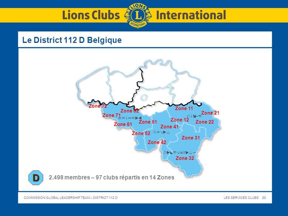D Le District 112 D Belgique