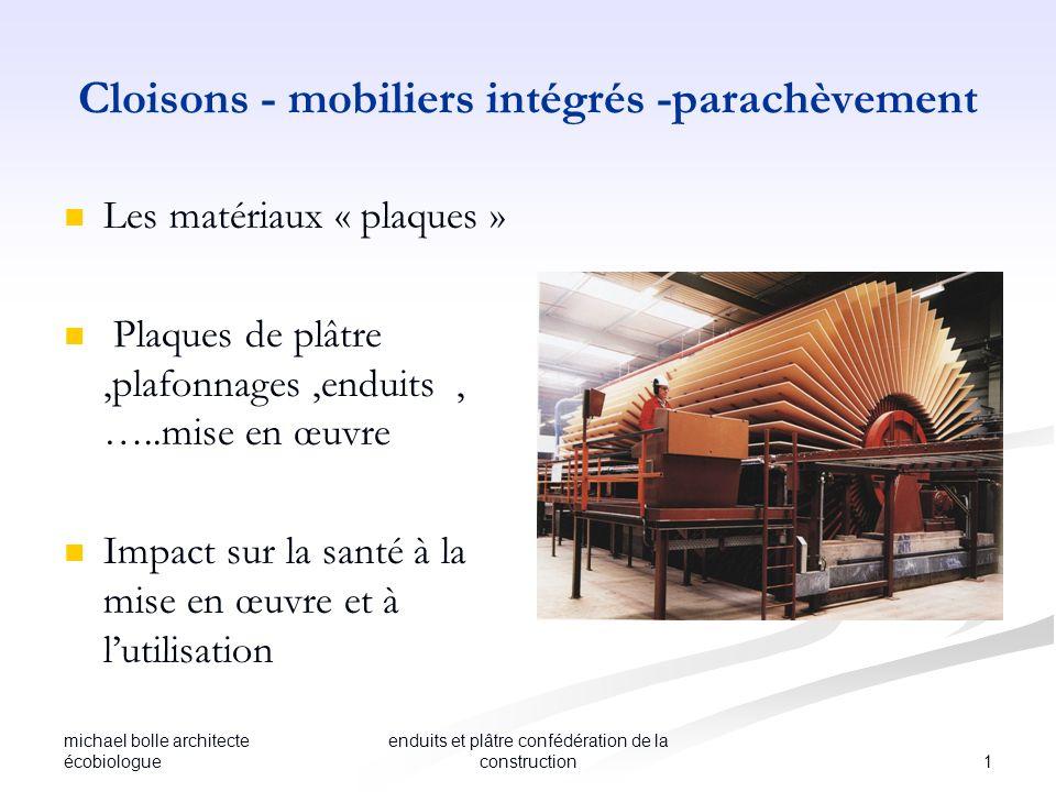 Cloisons - mobiliers intégrés -parachèvement
