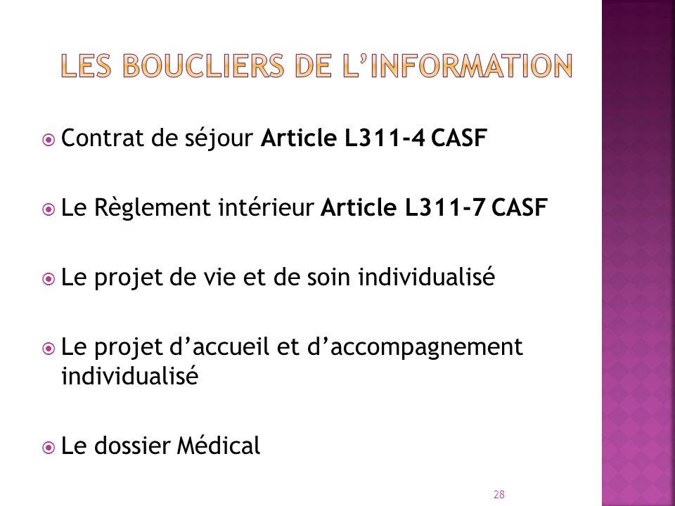 LES BOUCLIERS DE L'INFORMATION
