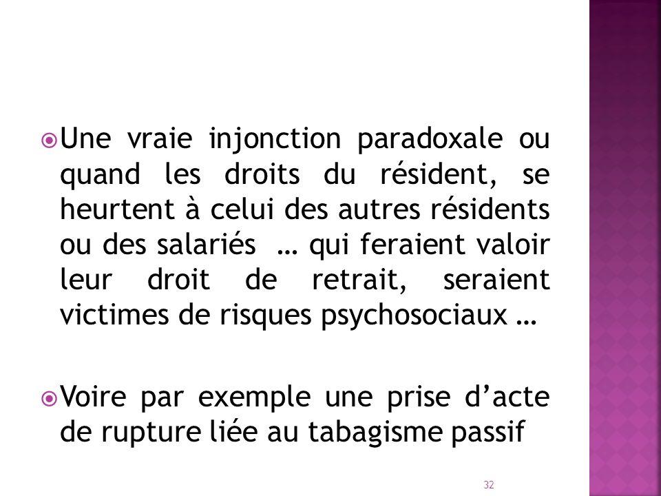 Une vraie injonction paradoxale ou quand les droits du résident, se heurtent à celui des autres résidents ou des salariés … qui feraient valoir leur droit de retrait, seraient victimes de risques psychosociaux …
