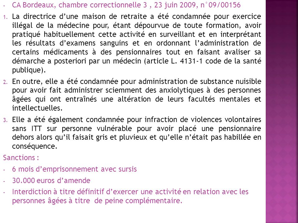 CA Bordeaux, chambre correctionnelle 3 , 23 juin 2009, n°09/00156