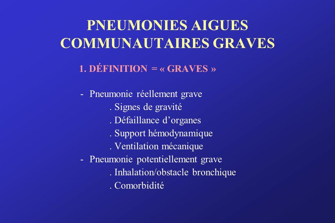 PNEUMONIES AIGUES COMMUNAUTAIRES GRAVES
