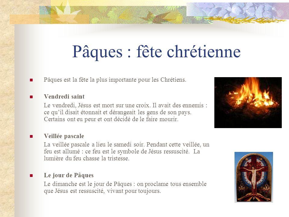 Pâques : fête chrétienne