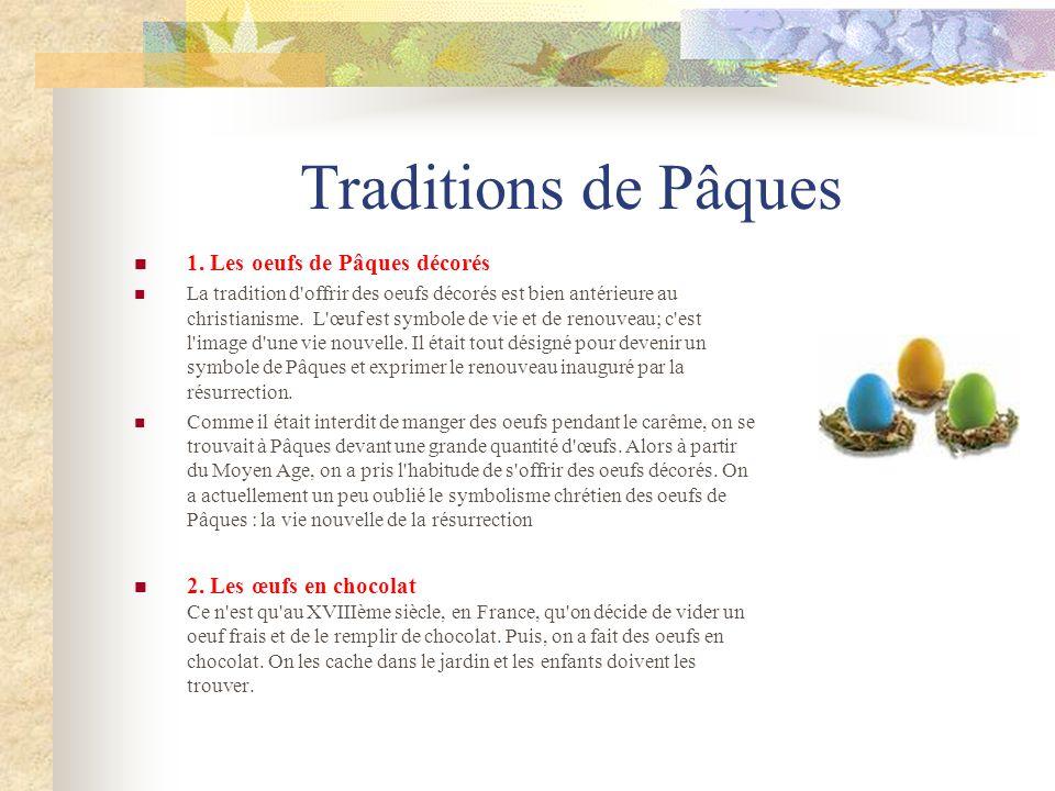 Traditions de Pâques 1. Les oeufs de Pâques décorés