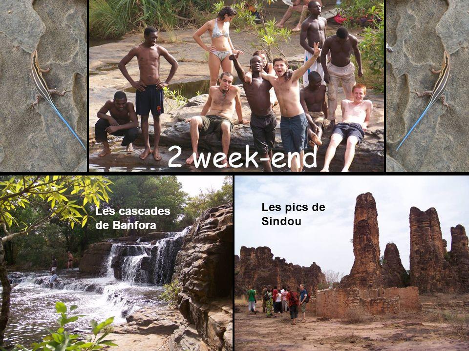 2 week-end Les pics de Sindou Les cascades de Banfora