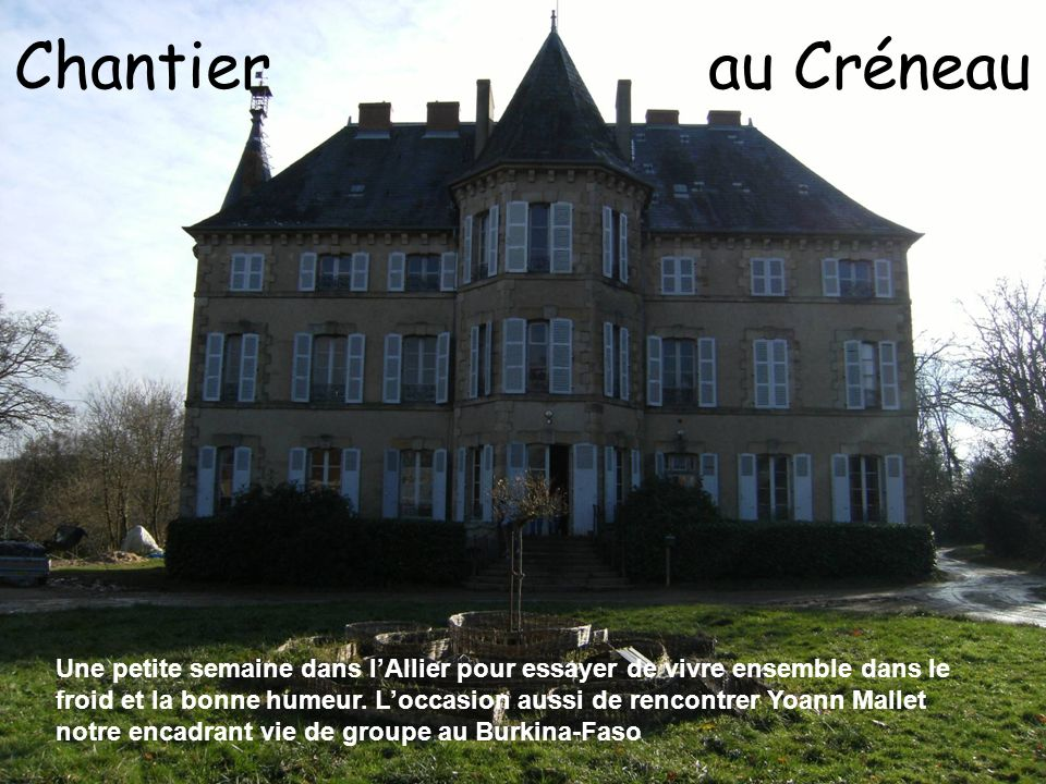 Chantier au Créneau