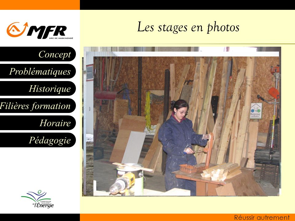 Les stages en photos
