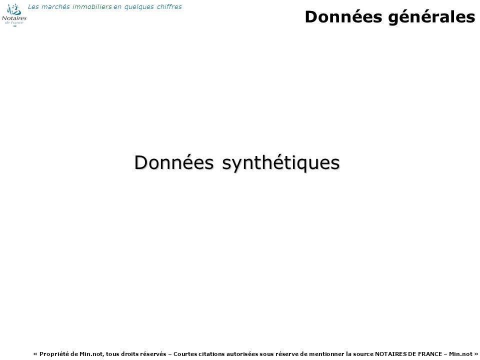 Données générales Données synthétiques