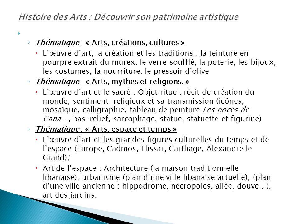 Histoire des Arts : Découvrir son patrimoine artistique