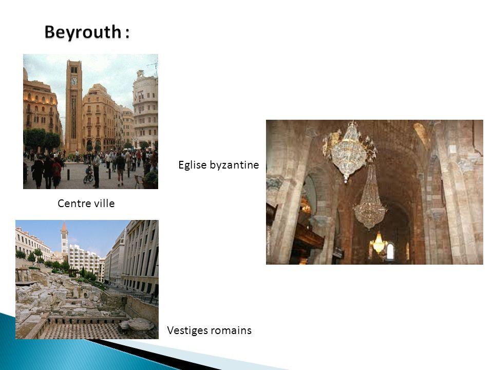 Beyrouth : Eglise byzantine Centre ville Vestiges romains