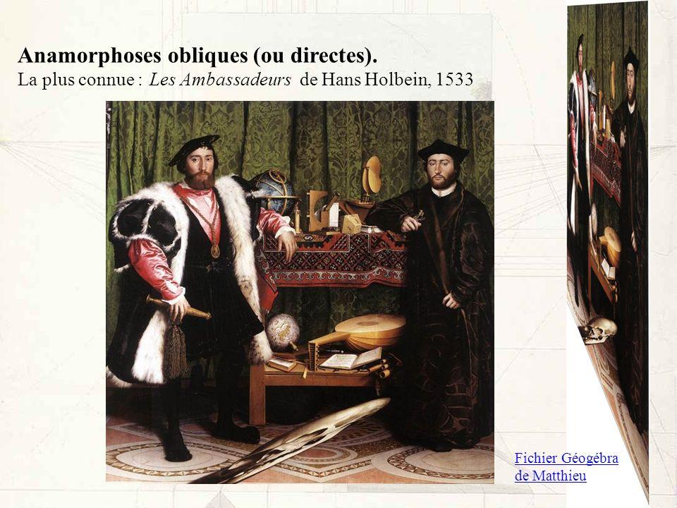 Anamorphoses obliques (ou directes).