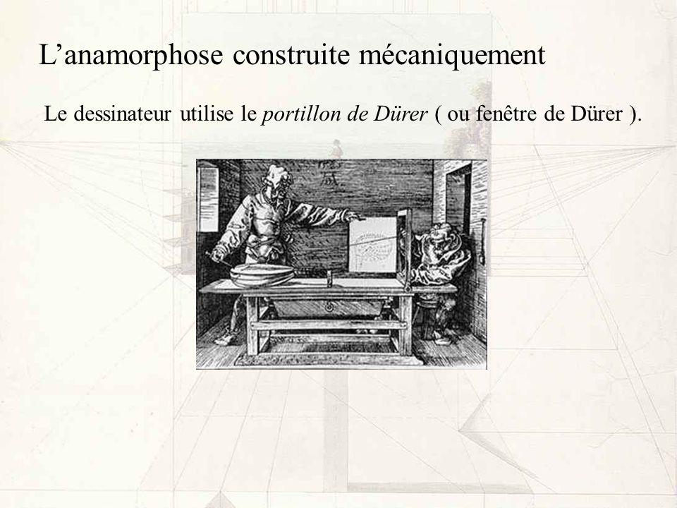 L'anamorphose construite mécaniquement