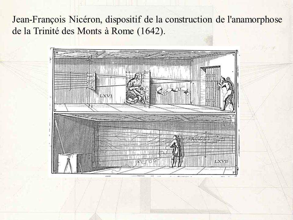 Jean-François Nicéron, dispositif de la construction de l anamorphose