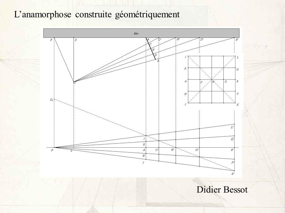 L'anamorphose construite géométriquement