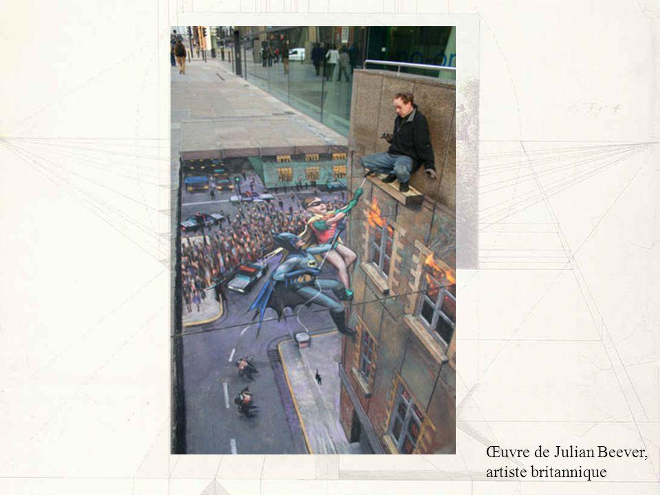 Œuvre de Julian Beever, artiste britannique
