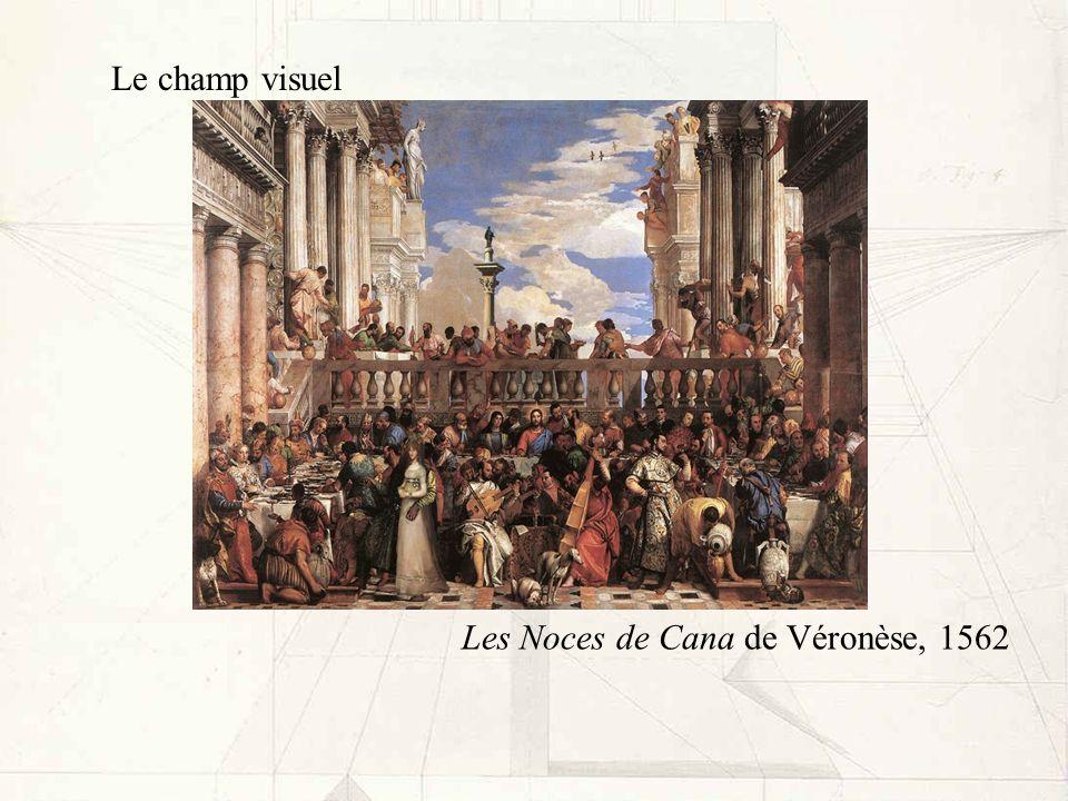 Le champ visuel Les Noces de Cana de Véronèse, 1562