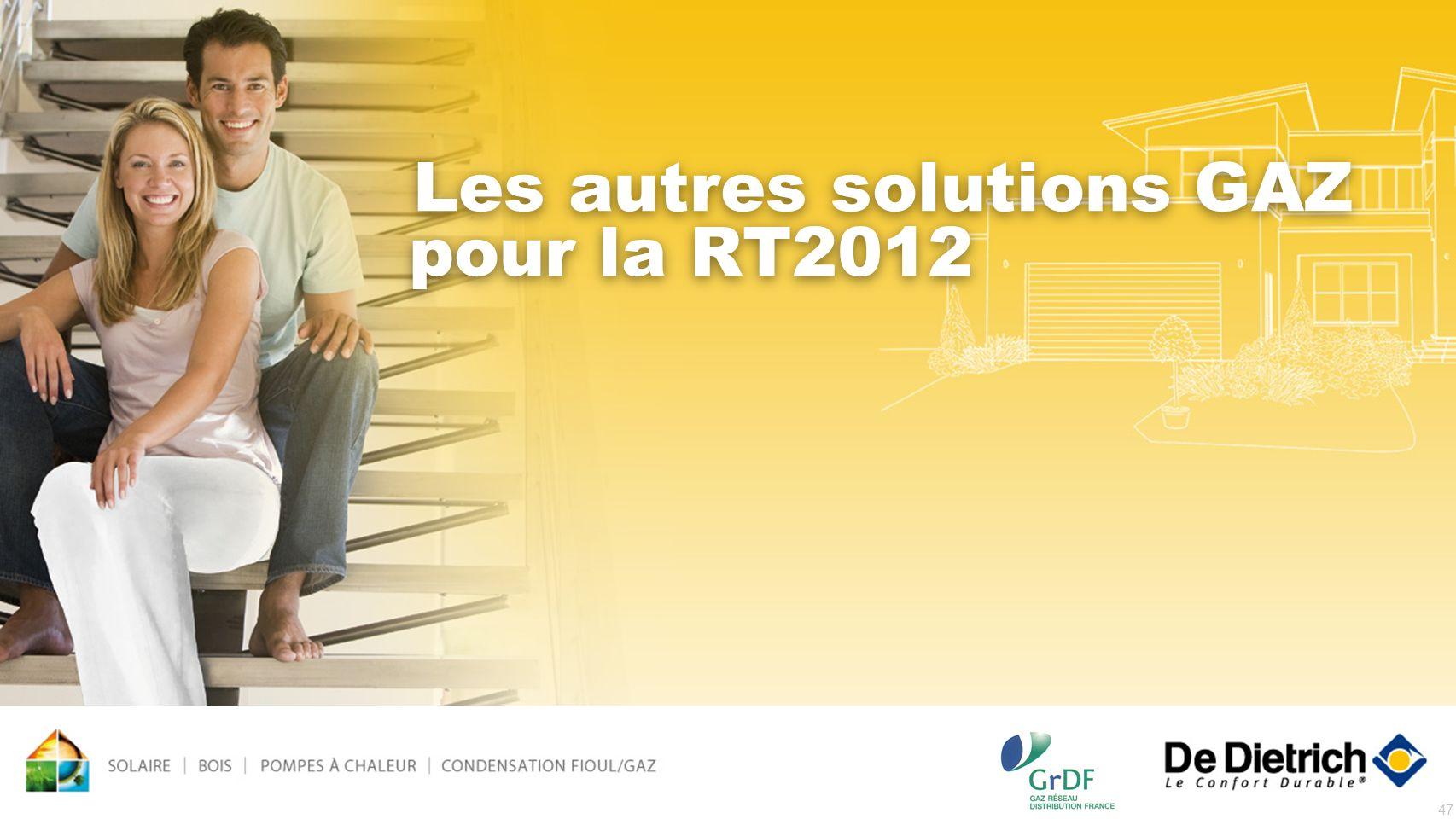Les autres solutions GAZ pour la RT2012