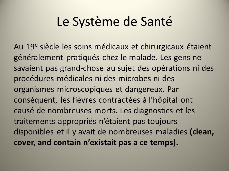 Le Système de Santé