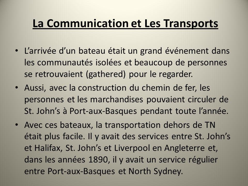 La Communication et Les Transports