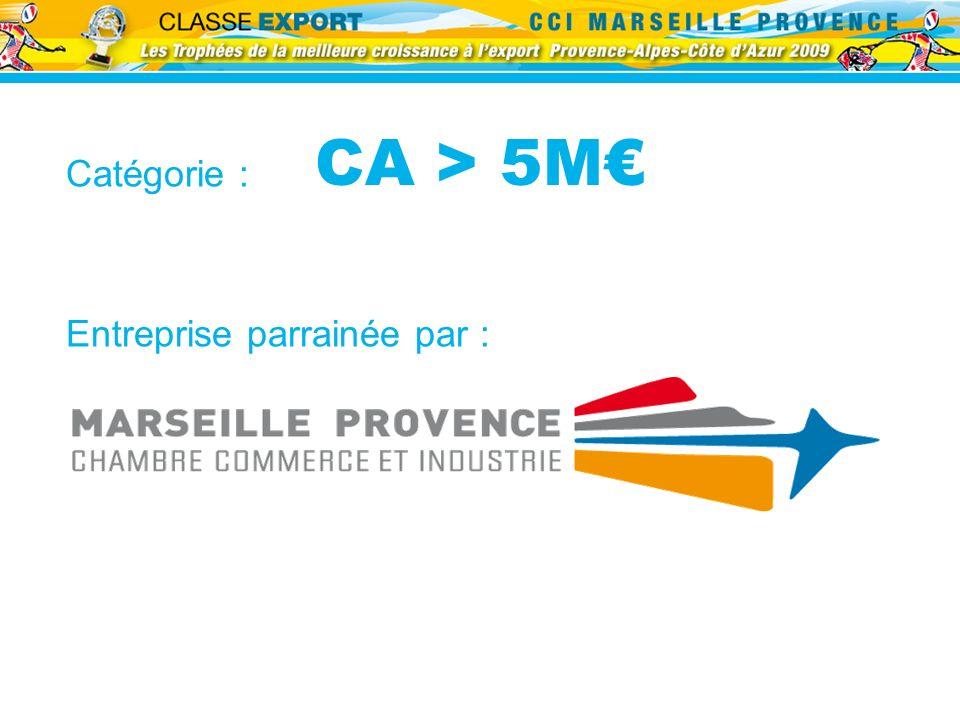 CA > 5M€ Catégorie : Entreprise parrainée par :