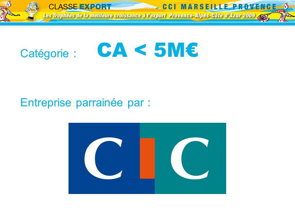 CA < 5M€ Catégorie : Entreprise parrainée par :