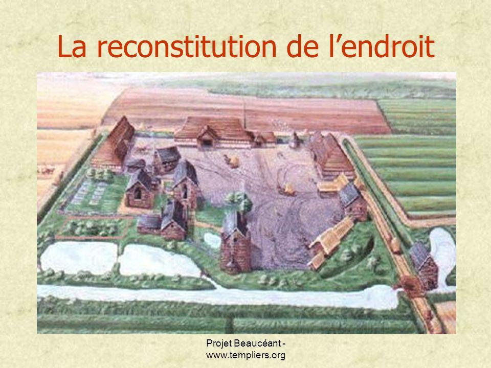 La reconstitution de l'endroit
