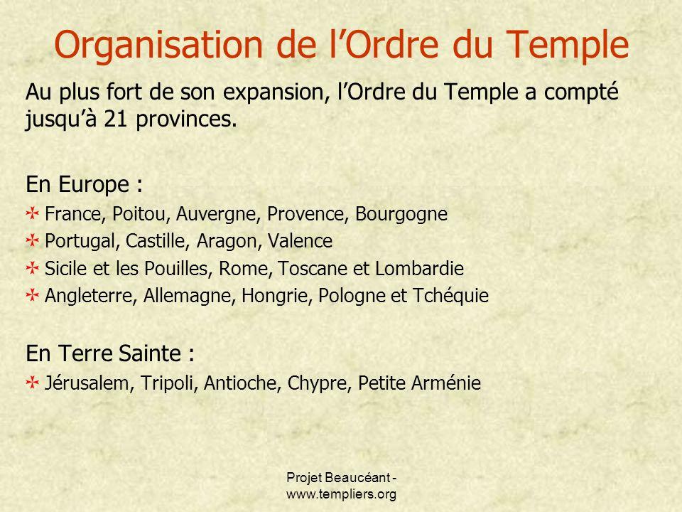 Organisation de l'Ordre du Temple