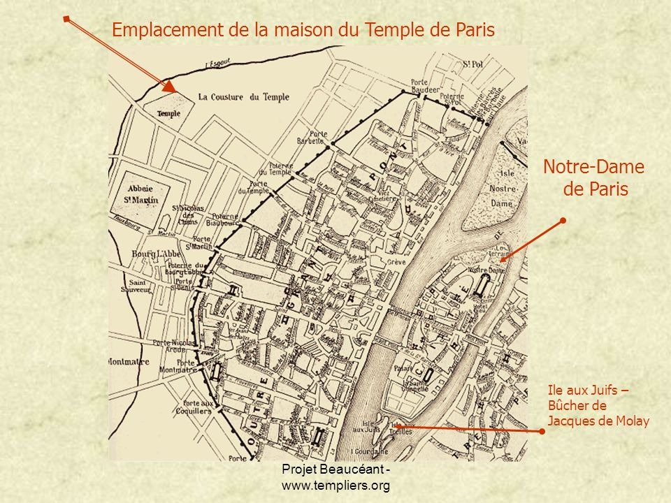 Emplacement de la maison du Temple de Paris