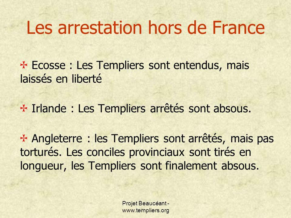 Les arrestation hors de France