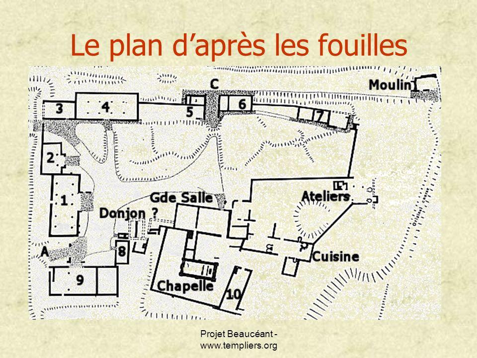 Le plan d'après les fouilles