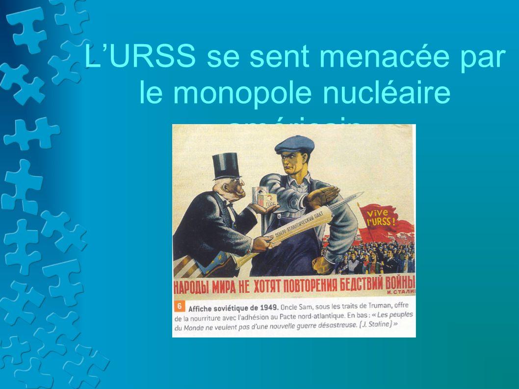 L'URSS se sent menacée par le monopole nucléaire américain