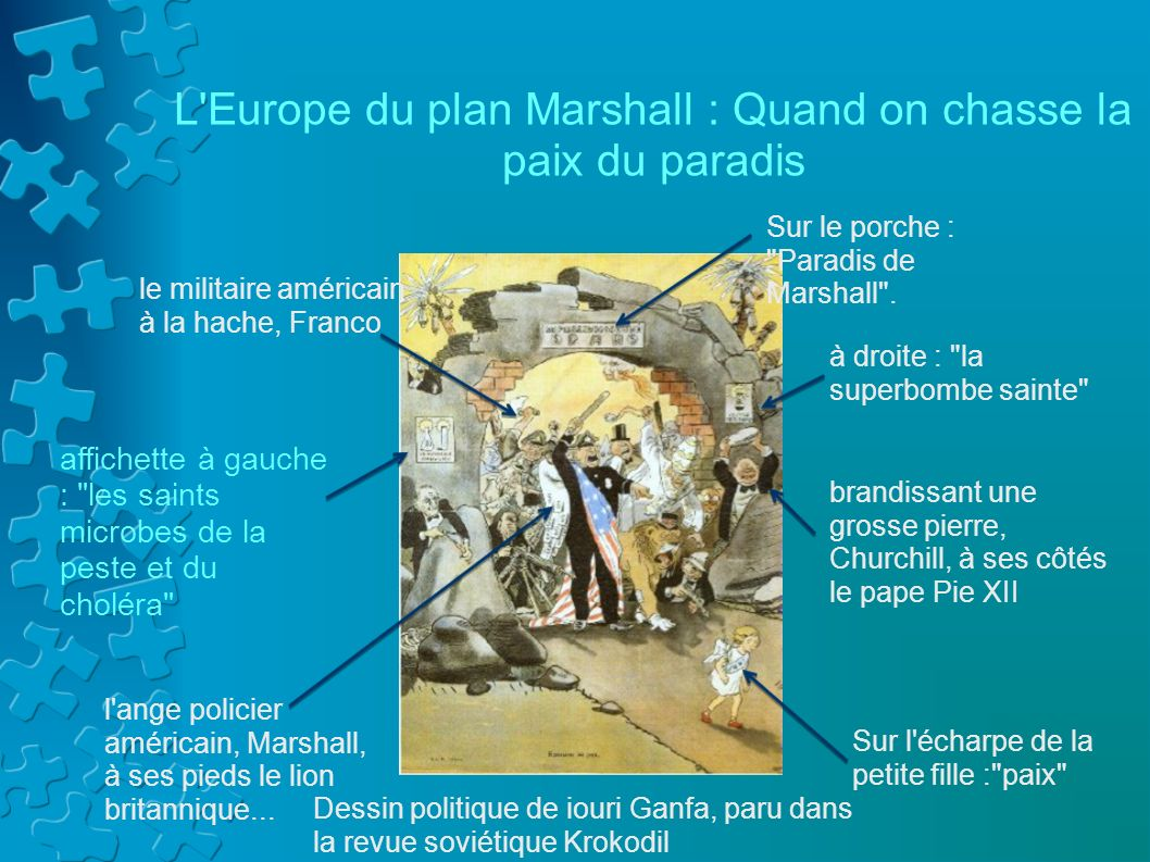 L Europe du plan Marshall : Quand on chasse la paix du paradis