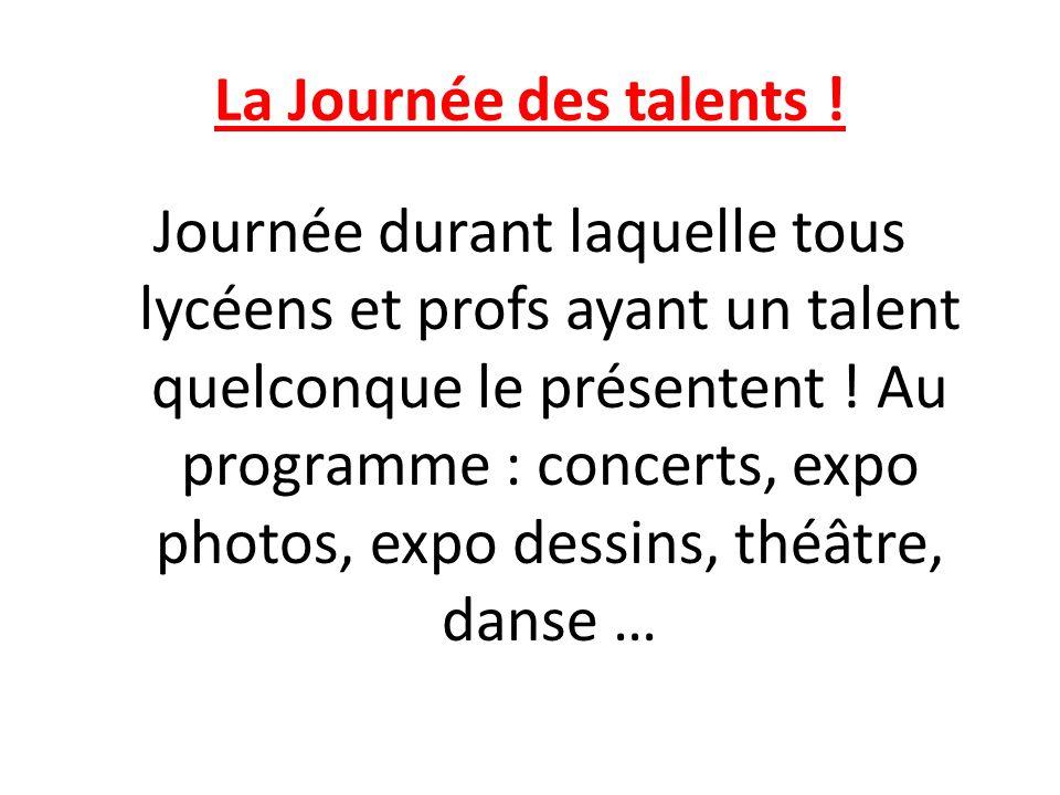 La Journée des talents !