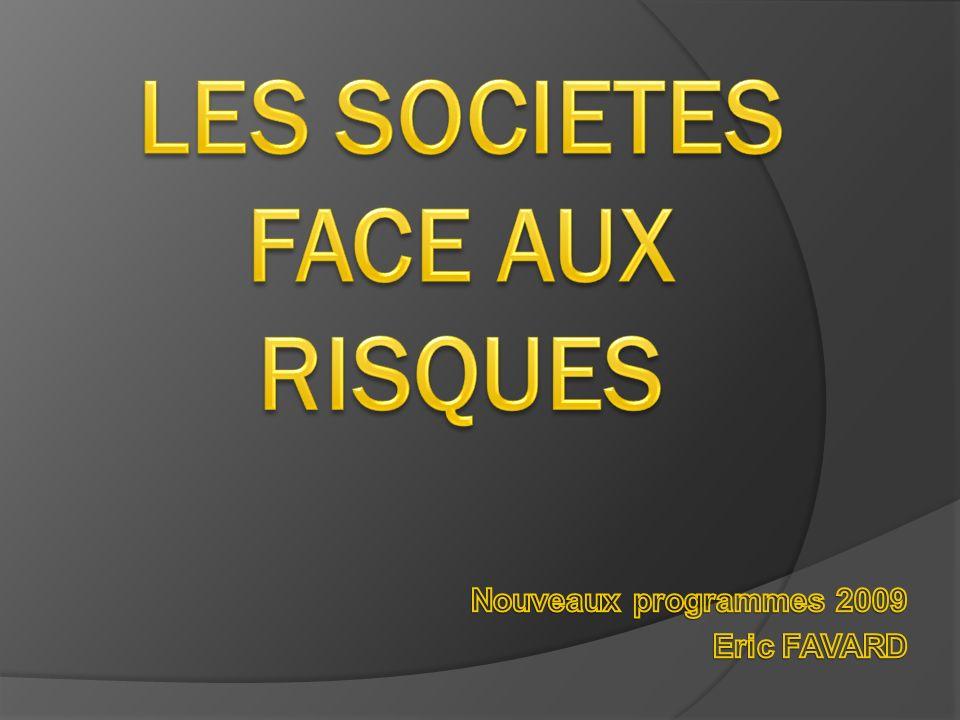LES SOCIETES FACE AUX RISQUES