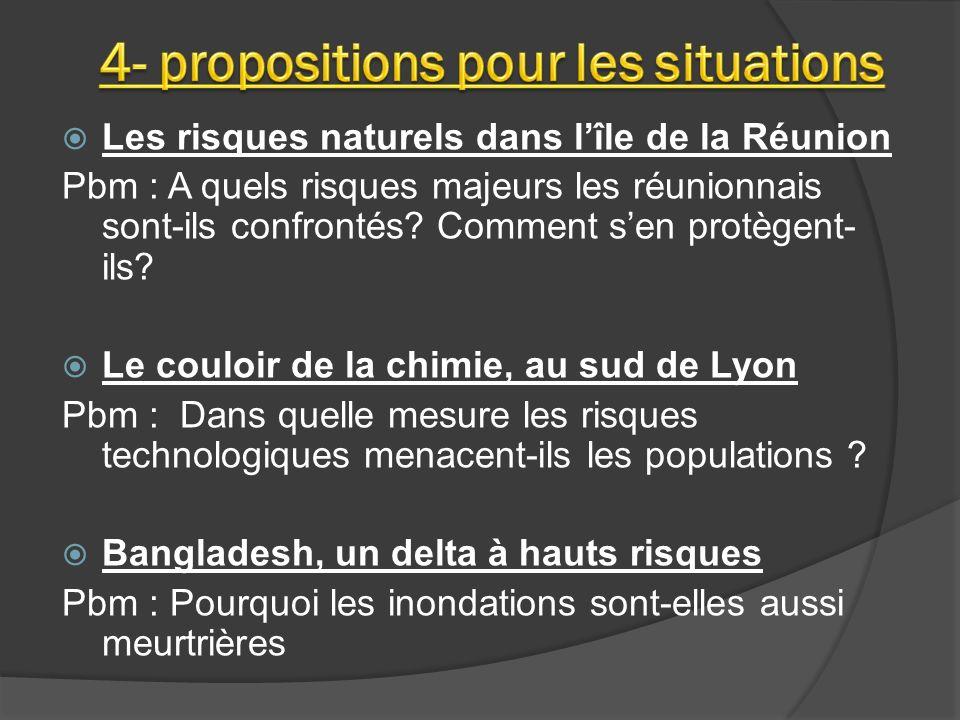 4- propositions pour les situations