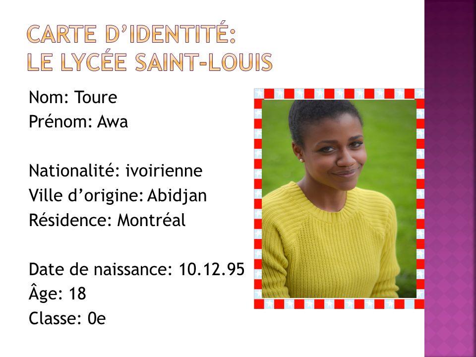 Carte d'identité: Le lycée saint-louis