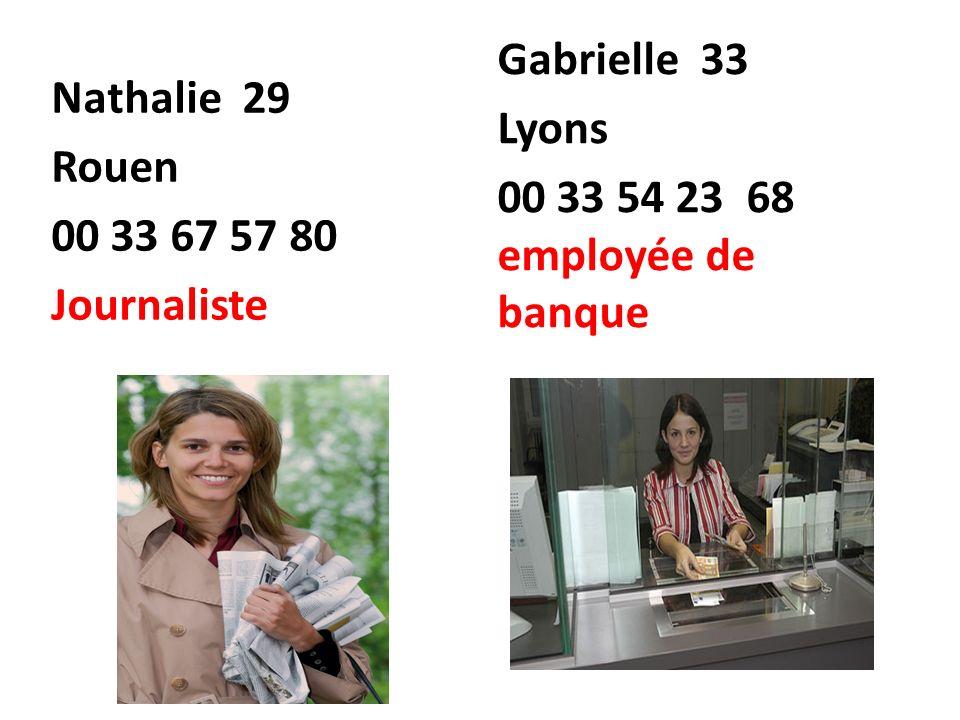 Nathalie 29 Rouen. 00 33 67 57 80. Journaliste.