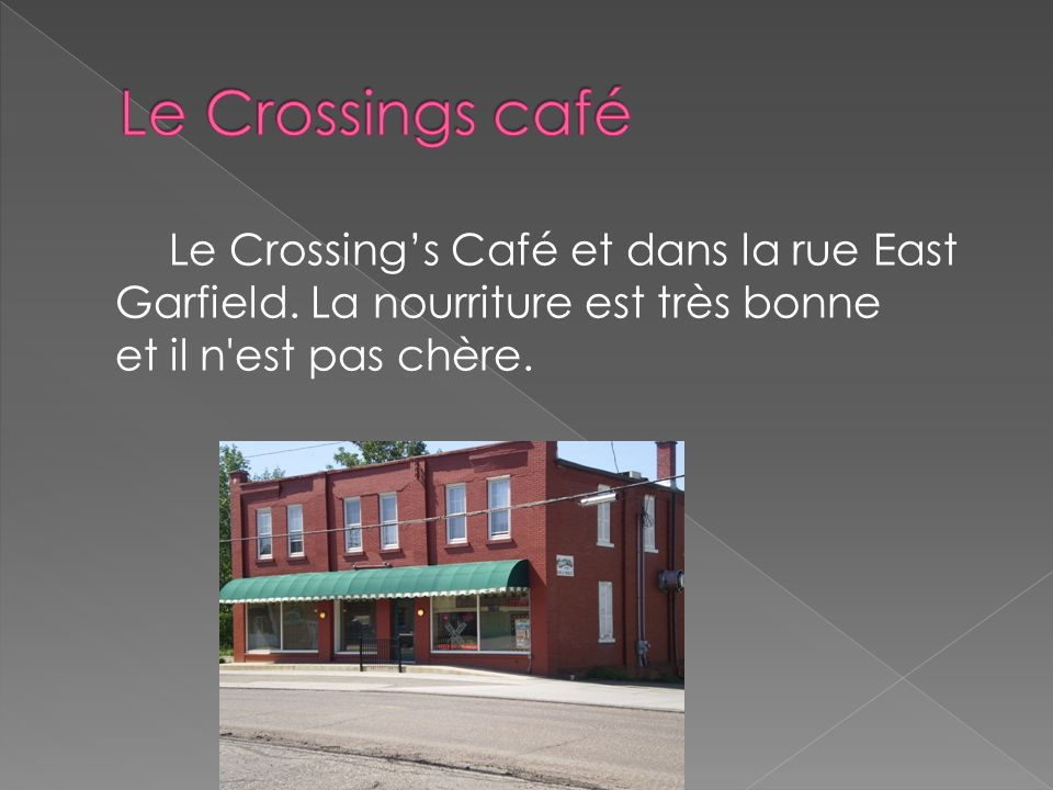 Le Crossings café Le Crossing's Café et dans la rue East Garfield.