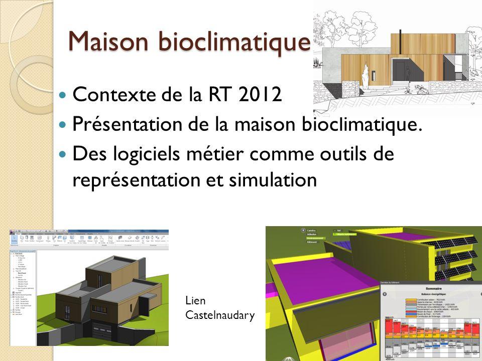 Maison bioclimatique Contexte de la RT 2012