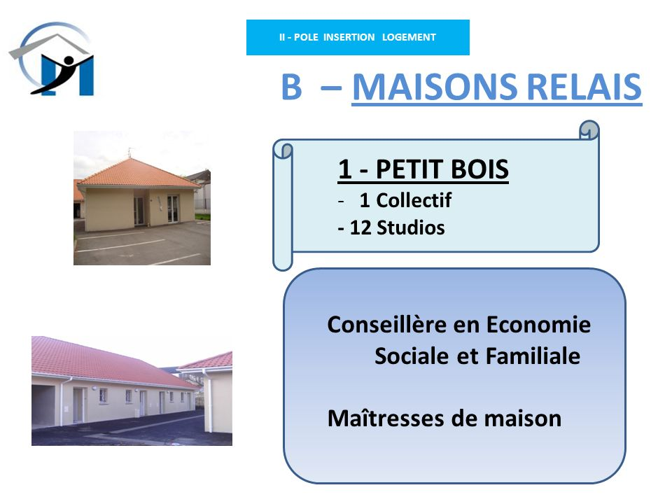 II - POLE INSERTION LOGEMENT
