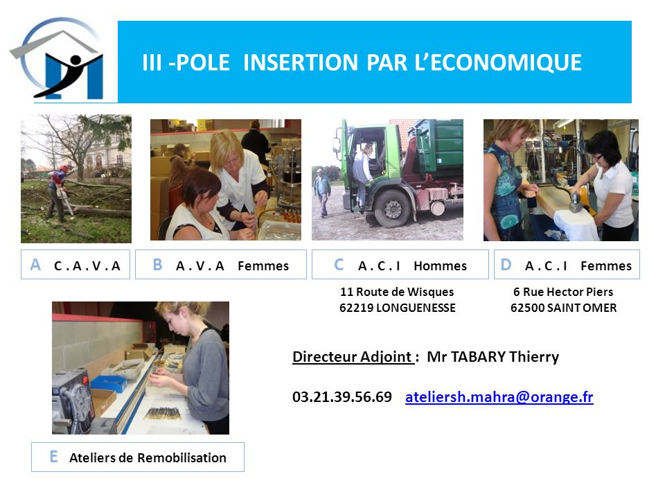 III -POLE INSERTION PAR L'ECONOMIQUE