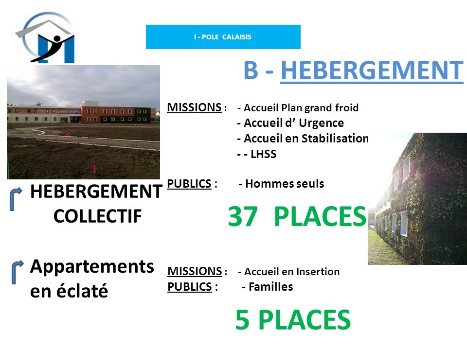 37 PLACES 5 PLACES B - HEBERGEMENT HEBERGEMENT COLLECTIF