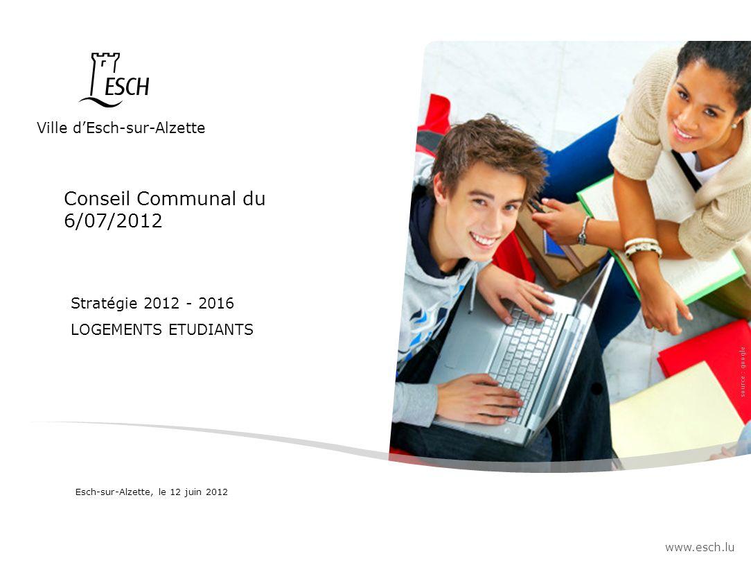 Conseil Communal du 6/07/2012 Ville d'Esch-sur-Alzette