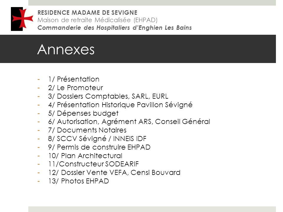 Annexes 1/ Présentation 2/ Le Promoteur