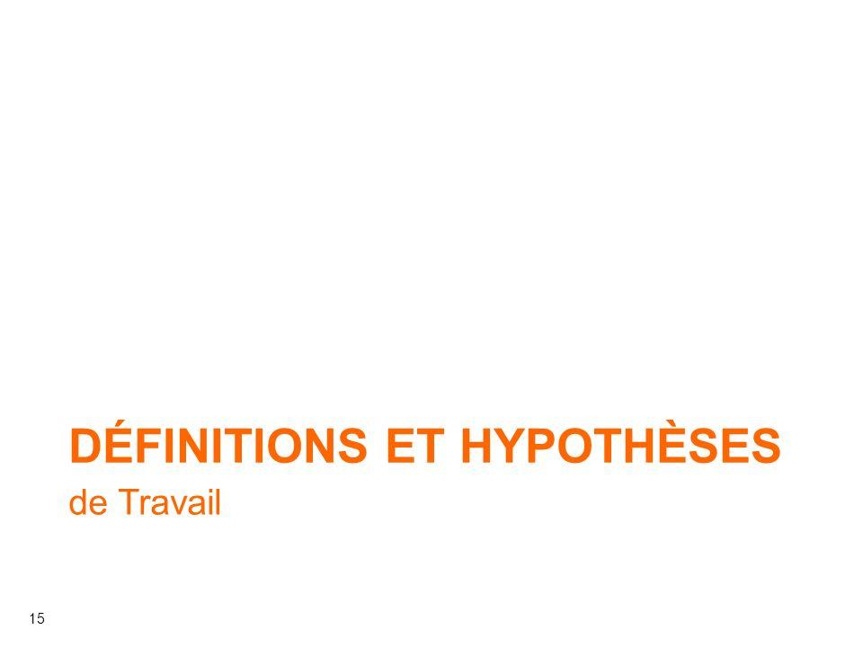 Définitions et Hypothèses