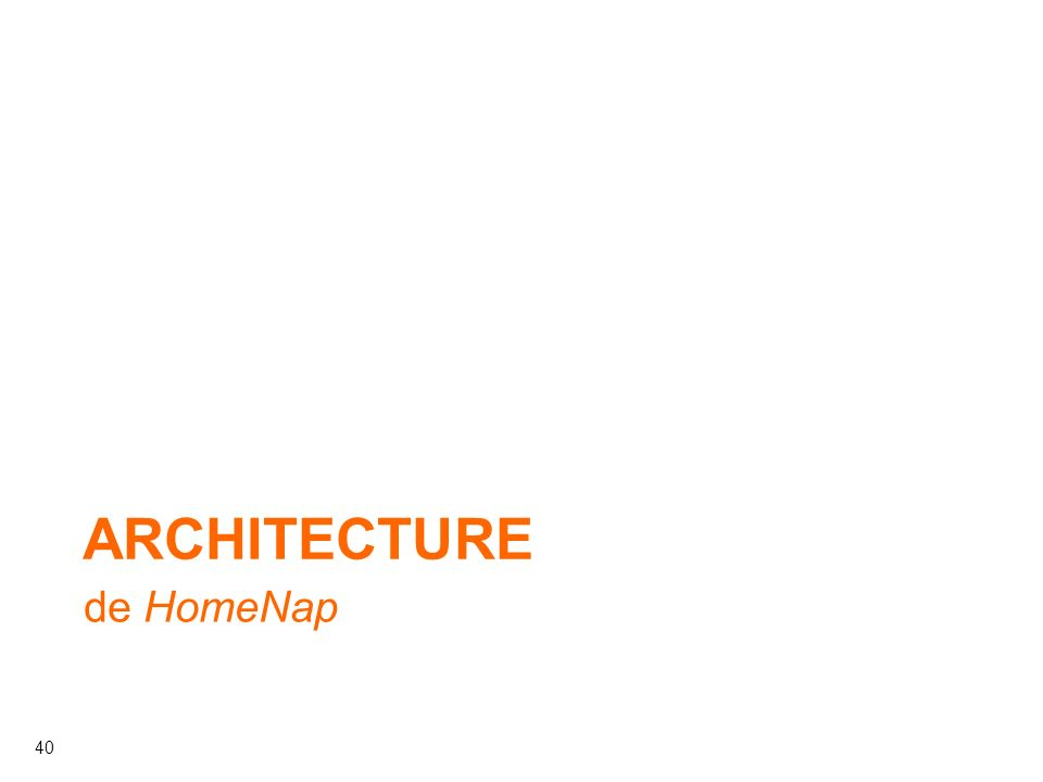Architecture de HomeNap