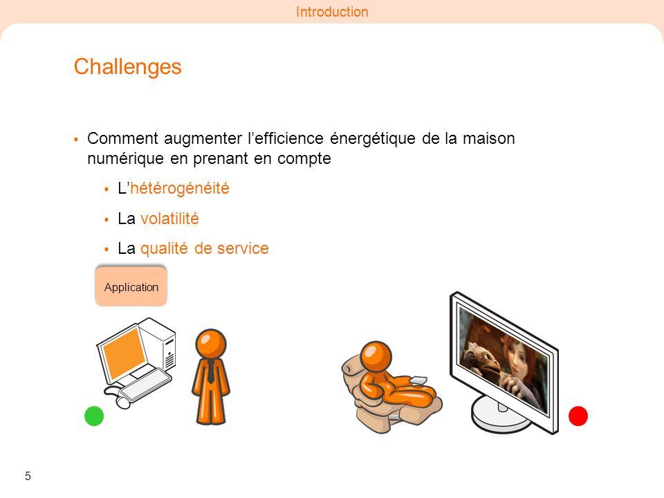 Challenges Comment augmenter l'efficience énergétique de la maison numérique en prenant en compte. L'hétérogénéité.