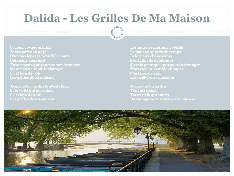 Dalida - Les Grilles De Ma Maison