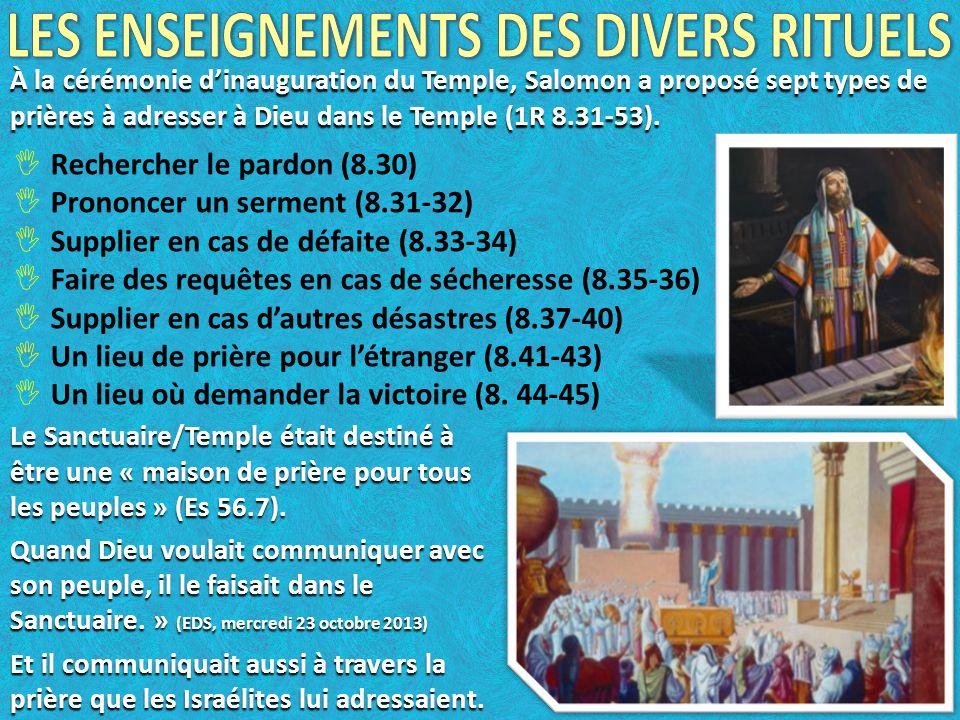 LES ENSEIGNEMENTS DES DIVERS RITUELS